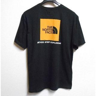 ザノースフェイス(THE NORTH FACE)のノースフェイス*US:L/ブラック-Yel/ボックスロゴプリント半袖T(Tシャツ/カットソー(半袖/袖なし))
