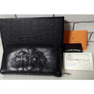 Chrome Hearts - クロムハーツ セメタリー クロス パッチ ウォレット ラウンドジップ 財布