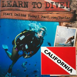 スキューバプロ(SCUBAPRO)のスキューバダイビング CaliforniaUS限定フラッグ ステッカー ラスト2(マリン/スイミング)