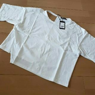 アウラアイラ(AULA AILA)のAULAAILA メッセージプリントTシャツ(Tシャツ(半袖/袖なし))