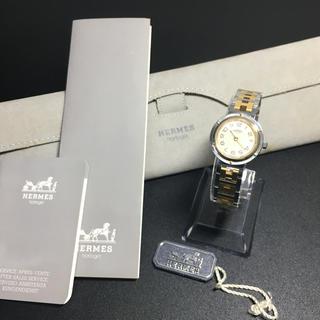 Hermes - 【良品 正規品】エルメス クリッパー 腕時計 ゴールドコンビ 可動品 レディース