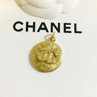 シャネル(CHANEL)の正規品 シャネル ペンダント ゴールド ココマーク 金 ロゴ 丸 ネックレス 2(ネックレス)