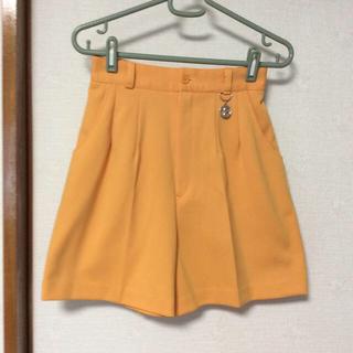 オレンジ色のキュロット(キュロット)