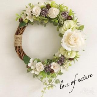 【再々再販】ローズ×紫陽花のナチュラルリース*・゜゜・*:.。..。.(リース)