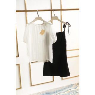 シャネル(CHANEL)のCHANELシャネル ワンピース白黒スカート(ミニワンピース)