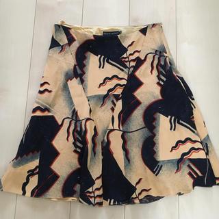 ラルフローレン(Ralph Lauren)のラルフローレン スカート サイズ4 シルク素材 パーティ(ひざ丈スカート)