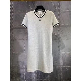 シャネル(CHANEL)のCHANEL ロングスカートTシャツ CC ロゴ(ミニワンピース)