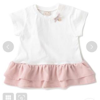 プティマイン(petit main)のプティマイン   バックフレアペプラムTシャツ 新品♡110(Tシャツ/カットソー)