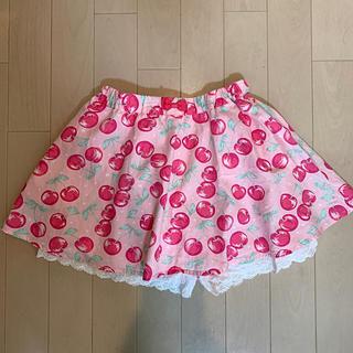 anyFAM - 130センチ パンツつきスカート さくらんぼ