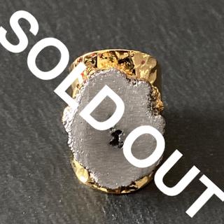 ローズバッド(ROSE BUD)の天然石 リング 指輪 グレー B(リング(指輪))