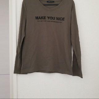 イング(INGNI)のイング ダークグリーン ロングTシャツ(Tシャツ(長袖/七分))