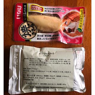 イナバペットフード(いなばペットフード)の吉岡油糧 ビーフ&ミルク 100g & いなば 焼ささみ ビーフミックス味(ペットフード)