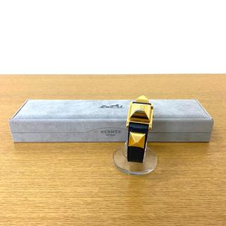 Hermes - エルメス メドール 腕時計 ダークネイビー ゴールド ☆セリーヌ フェンディ