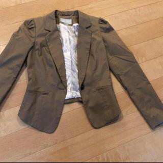 エイチアンドエム(H&M)の新品未使用 ブラウン ジャケット(テーラードジャケット)