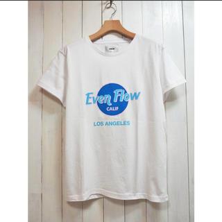 イーブンフロー(evenflo)の⭕️SALE⭕️WEB限定 イーブンフロー EF HR LOGO TEE 白 L(Tシャツ/カットソー(半袖/袖なし))