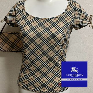 BURBERRY BLUE LABEL - Burberry☆チビTシャツⓂ︎美品