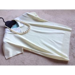 ロディスポット(LODISPOTTO)のロディスポット 衿付半袖プルオーバー イエロー(ニット/セーター)