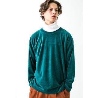 ビューティアンドユースユナイテッドアローズ(BEAUTY&YOUTH UNITED ARROWS)のmonkey time ベロアロングスリーブTシャツ M(Tシャツ/カットソー(七分/長袖))