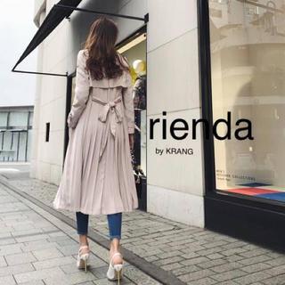 rienda - プリーツトレンチコート