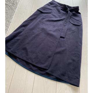 スピックアンドスパン(Spick and Span)のスピックアンドスパン 巻きスカート 美品 (ロングスカート)
