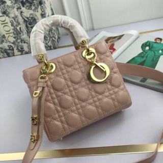 ディオール(Dior)のDIOR ピンク ハンドバッグ ショルダーバッグ(トートバッグ)