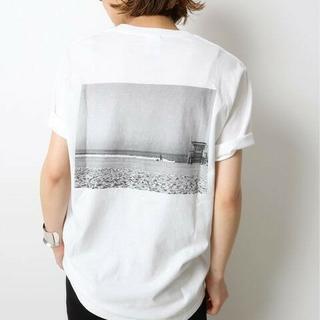 ドゥーズィエムクラス(DEUXIEME CLASSE)の新品タグ付 ドゥーズィエムクラス Photo T-shirt ホワイトB(Tシャツ(半袖/袖なし))