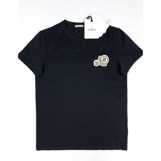 モンクレール(MONCLER)の新品 20-21AW モンクレール ダブルロゴ ワッペン Tシャツ ブラック(Tシャツ/カットソー(半袖/袖なし))