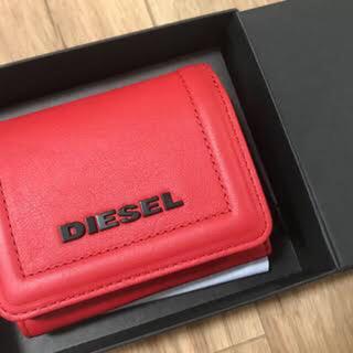 ディーゼル(DIESEL)のDIESEL 二つ折り 財布 赤(財布)
