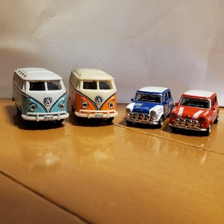 フォルクスワーゲン(Volkswagen)のミニカー 4台セット ミニクーパー ワーゲン(ミニカー)