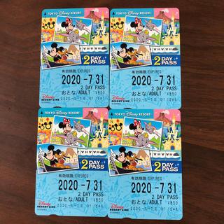 ディズニー(Disney)の未使用 4枚セットディズニーリゾートライン 2日券(鉄道乗車券)