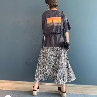 ローリーズファーム(LOWRYS FARM)のローリーズファーム レオパード  Aラインスカート(ロングスカート)