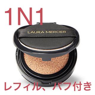 laura mercier - フローレスルミエールラディアンスパーフェクティングクッション レフィル、パフ