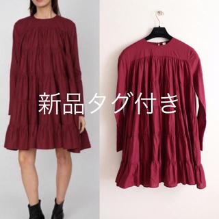 ドゥロワー(Drawer)の定価52800円 完売色 マーレット SOLIMAN DRESS(ひざ丈ワンピース)