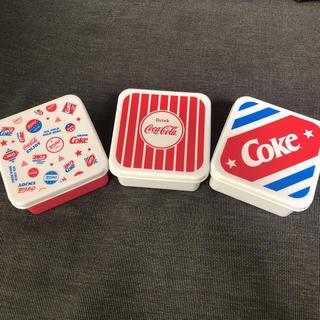 コカ・コーラ - コカコーラ タッパ 3個セット