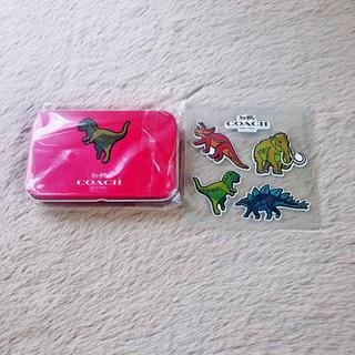 COACH - COACH 恐竜☆付箋&ステッカー 缶 セット