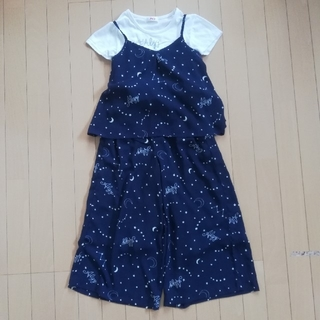 エフオーキッズ(F.O.KIDS)のALGY アルジー 星座柄キャミ・パンツセットアップ  XS 140(Tシャツ/カットソー)