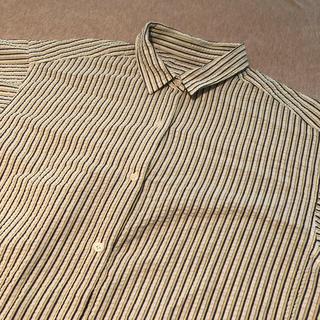 ジーユー(GU)のGU 半袖ストライプシャツ(レディース)(シャツ/ブラウス(半袖/袖なし))