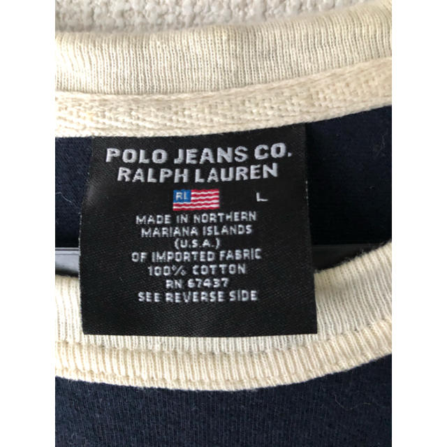 POLO RALPH LAUREN(ポロラルフローレン)のPOLO JEANS Tシャツ 大きめ 古着 メンズのトップス(Tシャツ/カットソー(半袖/袖なし))の商品写真