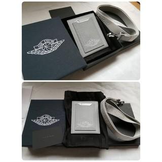 ディオール(Dior)の☆Air Dior card holder jordan case gray(名刺入れ/定期入れ)