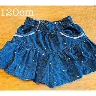 mikihouse - 美品✨120 ドット刺繍の可愛い ショートパンツ
