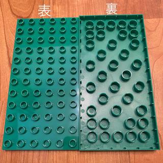 レゴ(Lego)の新品 グリーン 2枚セット LEGOデュプロ 基礎板 互換品(積み木/ブロック)