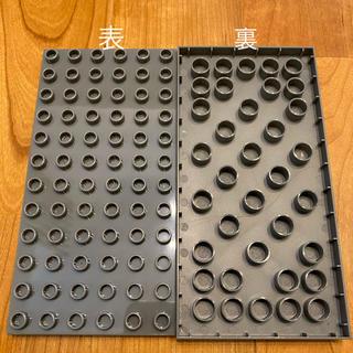 レゴ(Lego)の新品 グレー 2枚セット LEGOデュプロ 基礎板 互換品(積み木/ブロック)