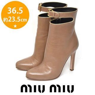 miumiu - ミュウミュウ ベルト パイピング ショートブーツ 36.5(約23.5cm)