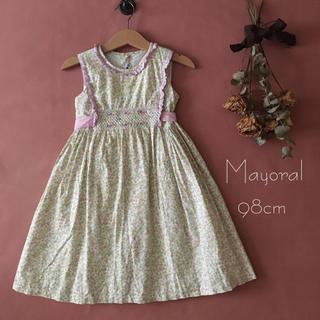 スペイン子供服⑅ Mayoralマヨラル|スモッキングワンピース*̩̩̥୨୧˖