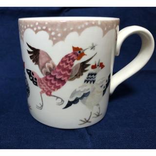 ハロッズ(Harrods)のRosie's Hens ブラウン バーレイ  burleigh  マグカップ(グラス/カップ)