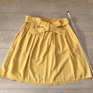 テチチ(Techichi)の【美品】Te chi chi テチチ フレアスカート 黄色(ひざ丈スカート)