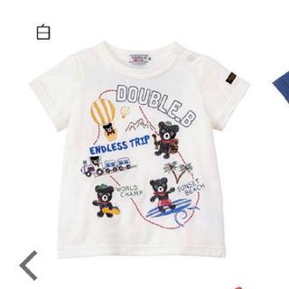DOUBLE.B - 【120サイズ】ダブルビー 半袖Tシャツ
