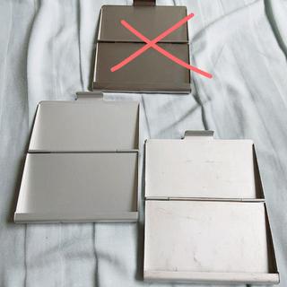 ムジルシリョウヒン(MUJI (無印良品))の無印良品 muji カードケース アルミ 2点セット(名刺入れ/定期入れ)