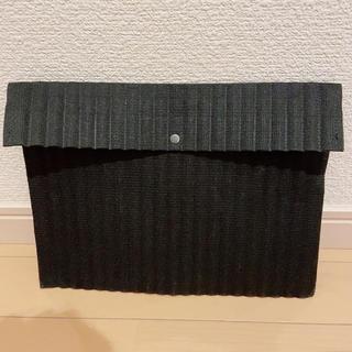 ムジルシリョウヒン(MUJI (無印良品))のMUJI クッションケース スナップ式 A5サイズ用 黒(ケース/ボックス)