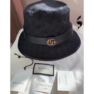グッチ(Gucci)のGUCCI ダブルG付き GGキャンバス バケットハット(ハンチング/ベレー帽)